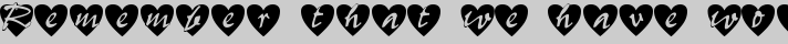 All Hearts typography TrueType font