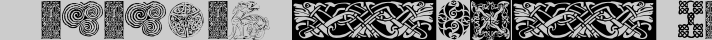 Celtic Patterns typography TrueType font