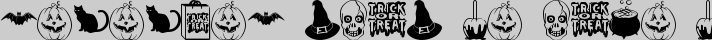 Trick or Treat BV typography TrueType font